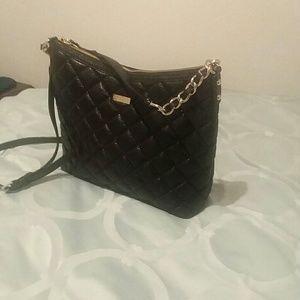 Kate Spade black leather purse sale.